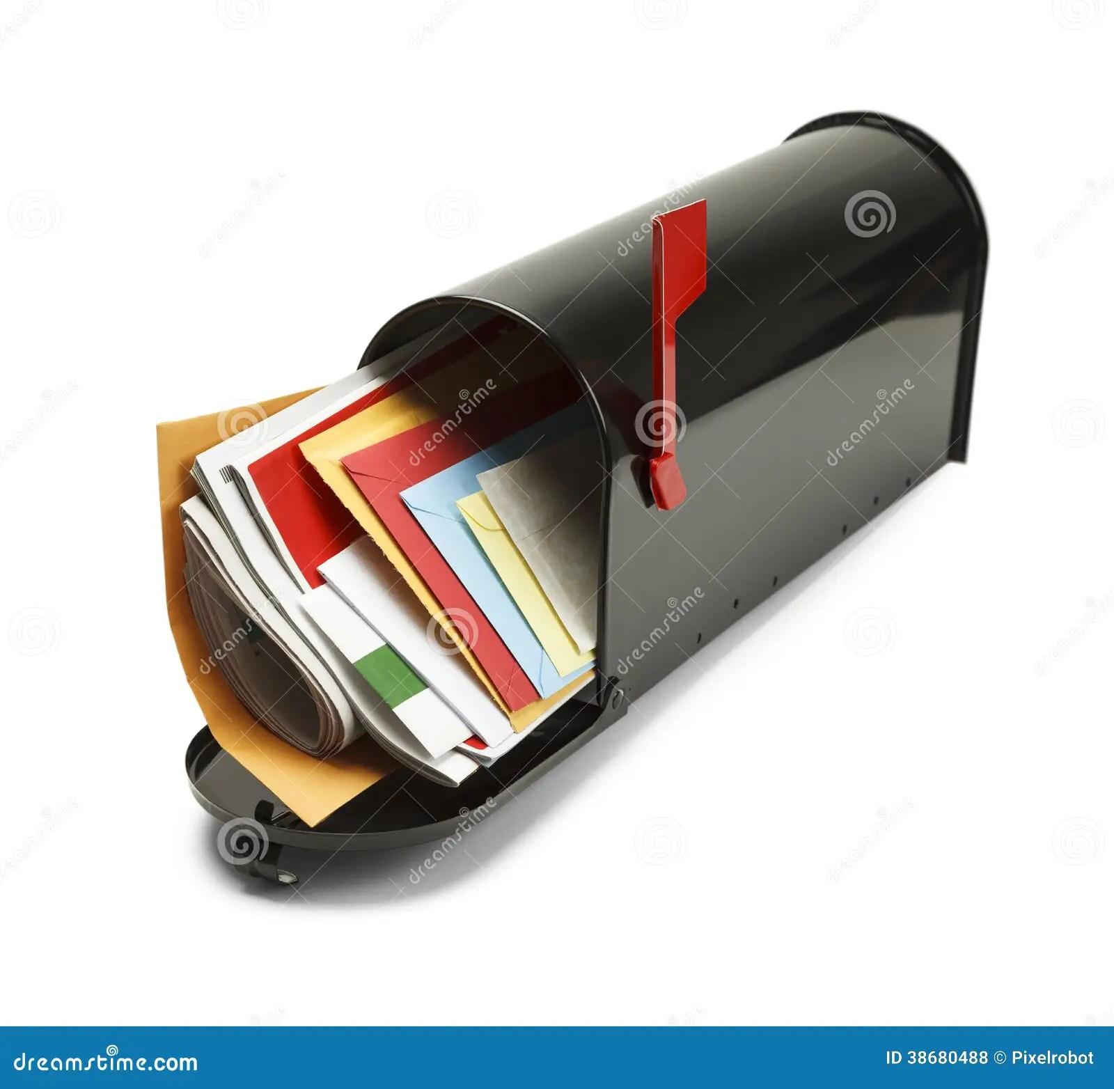 Full Black Mailbox Royalty Free Stock Photos