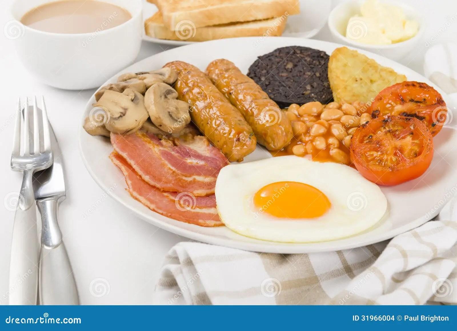 Full English Breakfast Stock Photo Image Of England