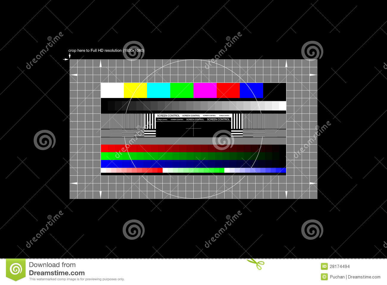 Full HD Test Pattern Stock Images  Image 28174494