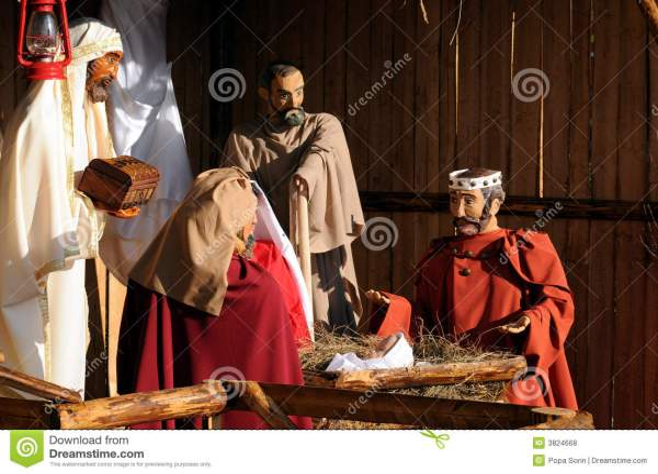 Full Nativity Scene Stock Of Baby Character