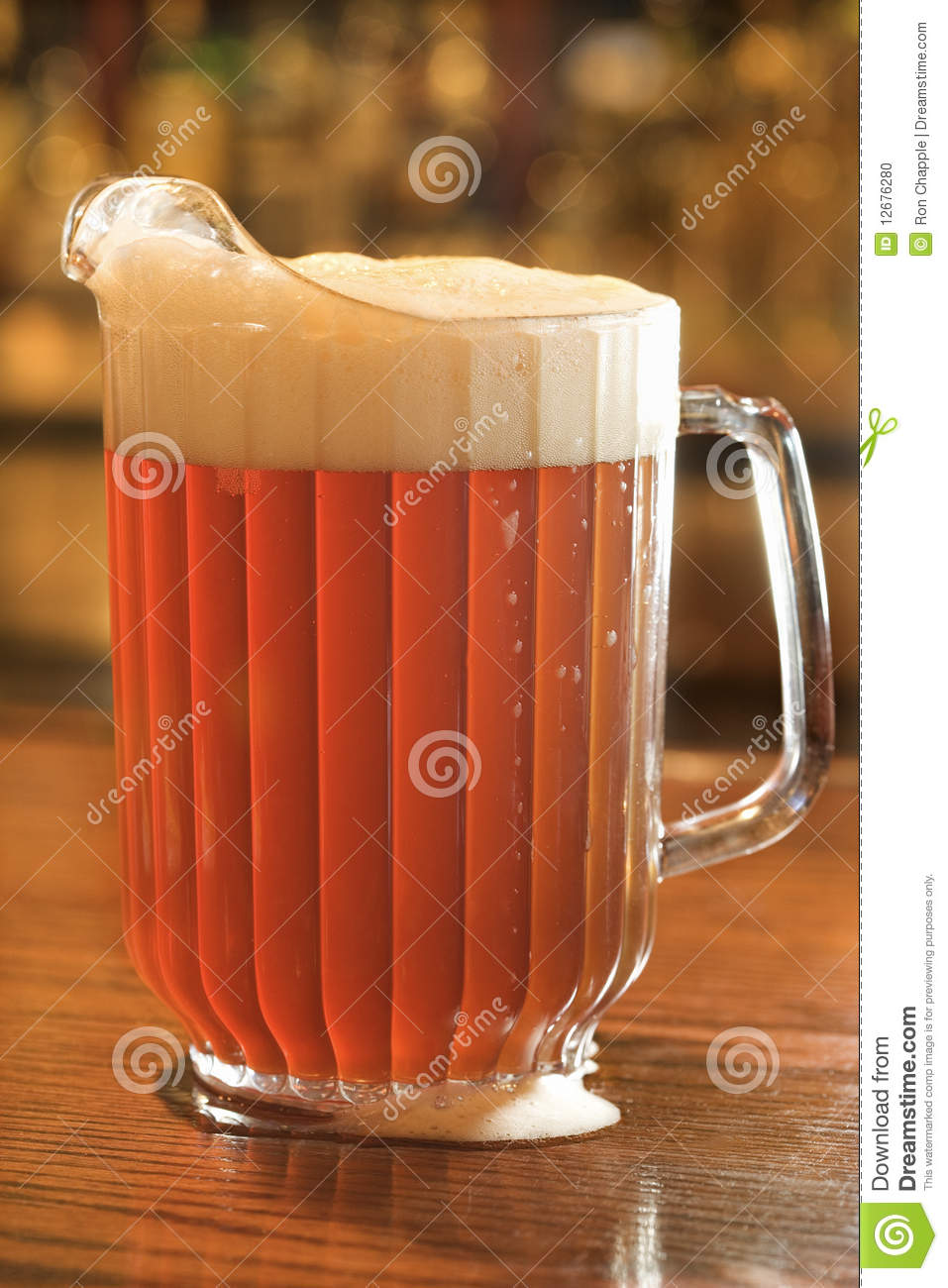 Full Pitcher Of Beer Stock Photo  Image 12676280