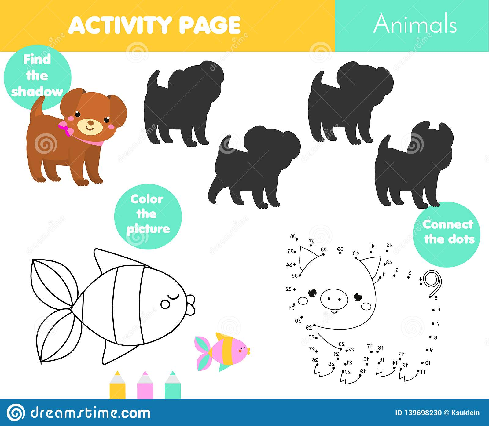Fun Activity Page For Kids Educational Children Game