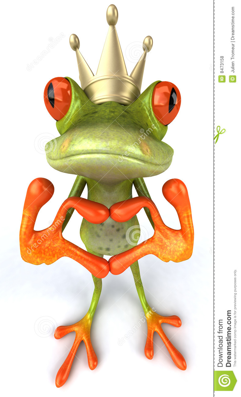 Fun Frog With Love Royalty Free Stock Photos Image 8473158
