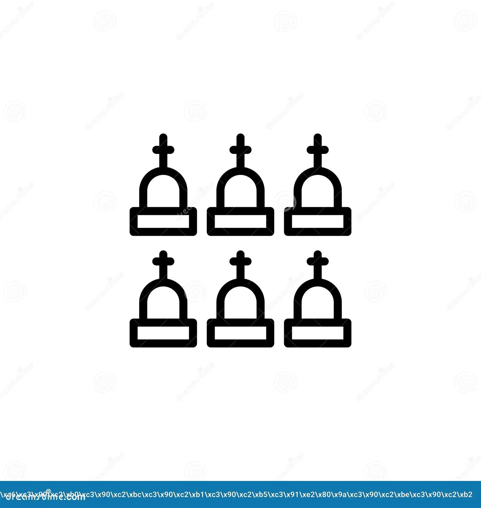 Funeral flat icon. stock vector. Illustration of halloween