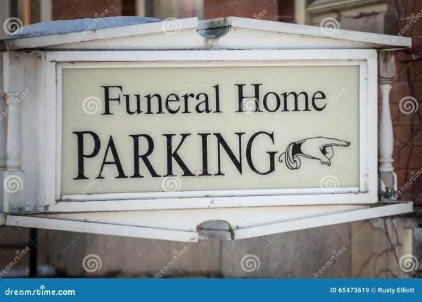Funeral Home Parking Sign Stock Illustration - 65473619