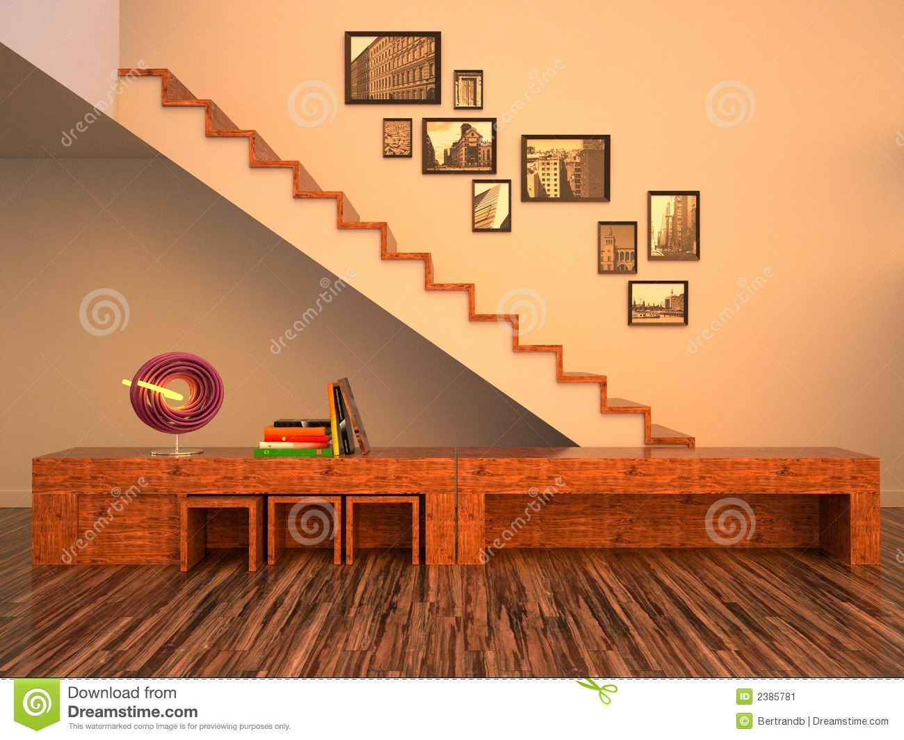 funky wooden chairs wheelchair seat cushion the interior stock image 2385781