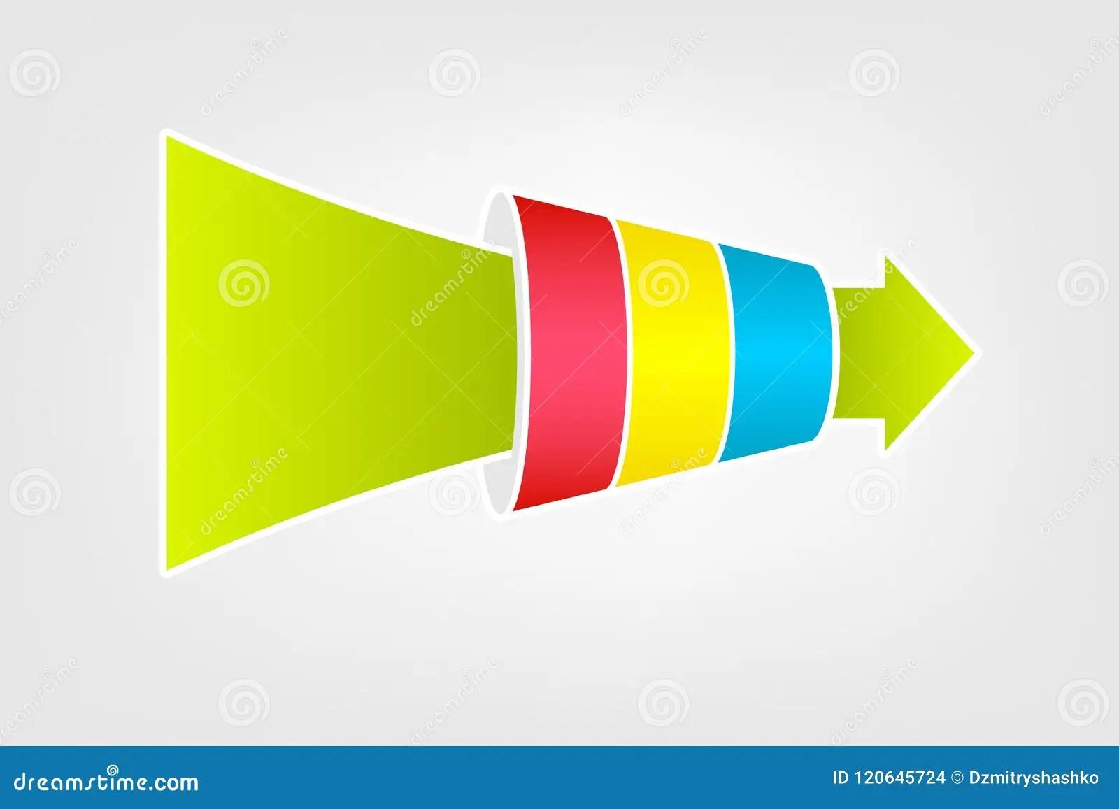 funnel chart diagram stock