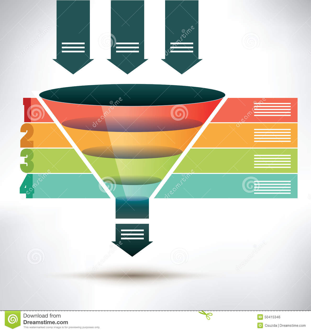 hight resolution of funnel flow chart template