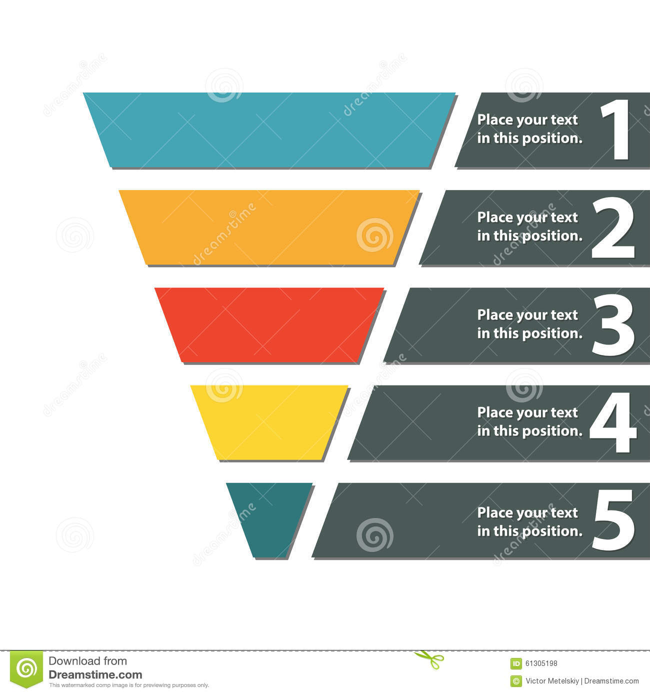 hight resolution of funnel symbol infographic or web design element template for marketing conversion or sales colorful vector illustration