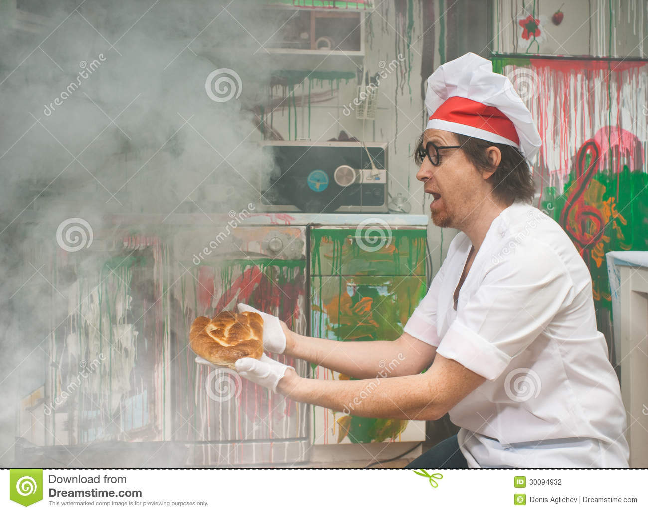 Funny baker stock photo Image of cook bread funny