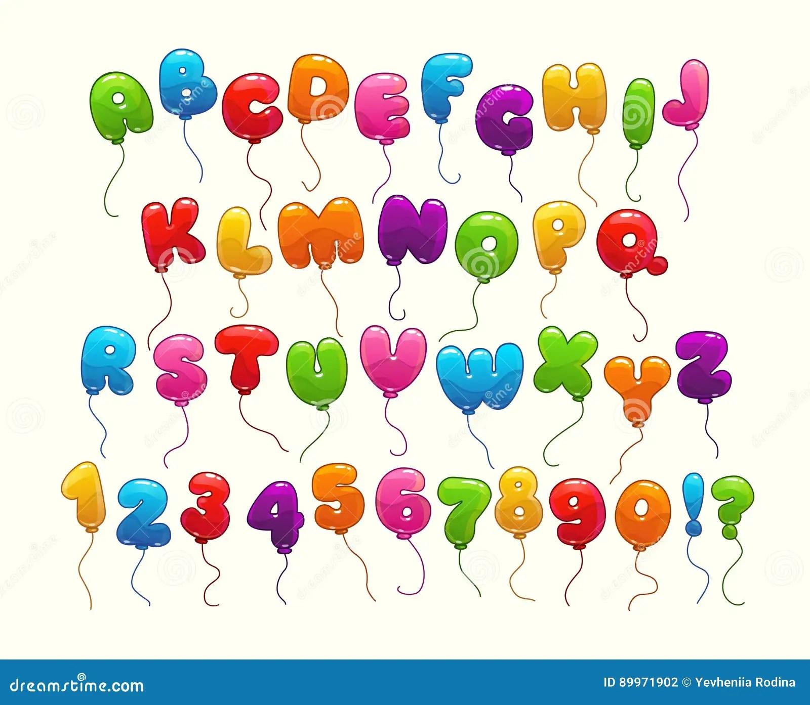 Funny Balloon Alphabet Stock Vector Illustration Of Nice