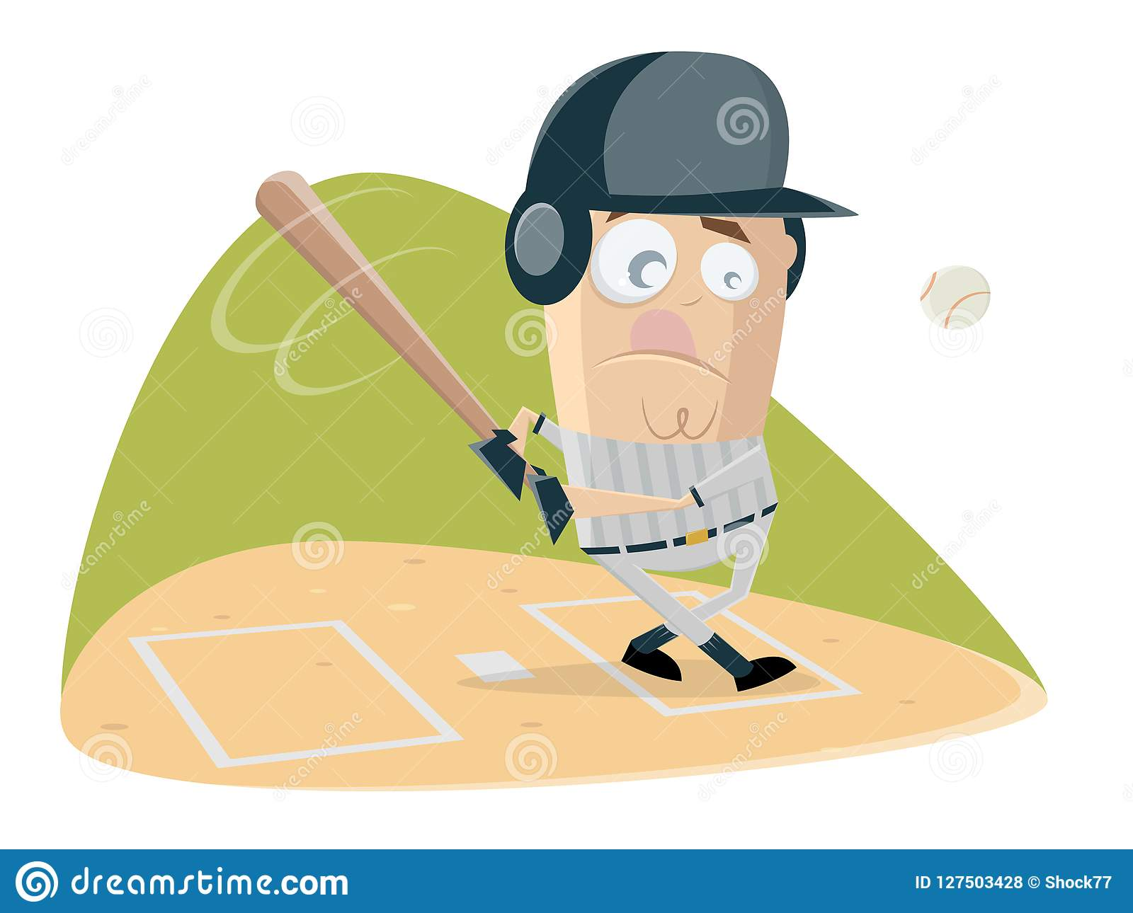 hight resolution of funny baseball batter is ready for the ball