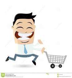 shopping funny cart businessman illustration bees running cartoon swarm flops flip isolated tie suit away wear royalty dreamstime