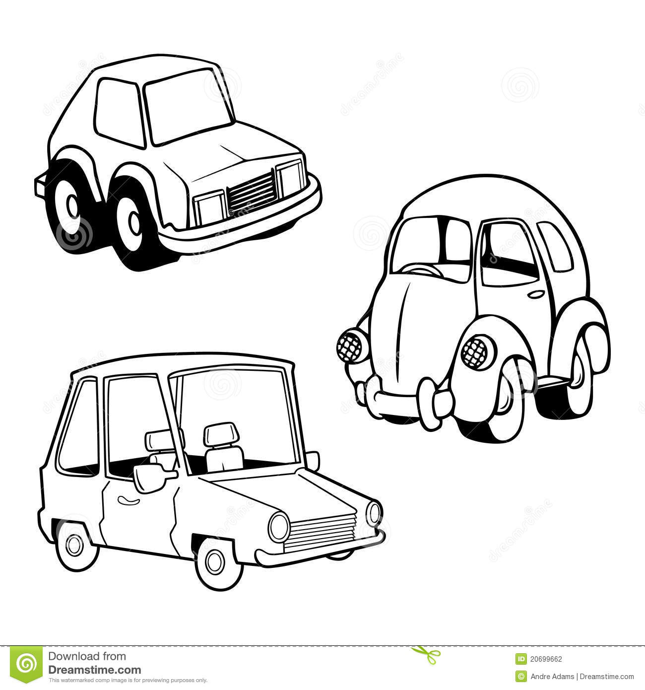 Funny Car Collection Stock Photography