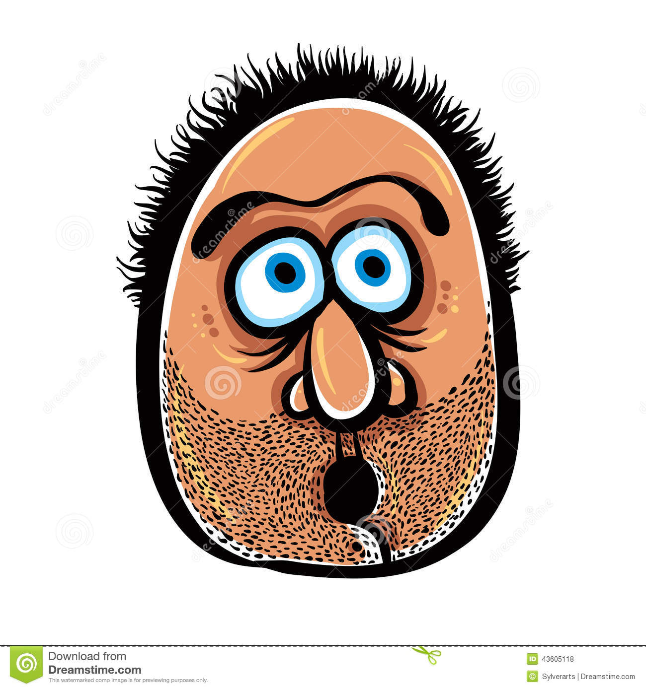 funny cartoon face with