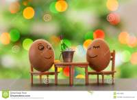 Funny Eggs On A Beach Chair Relaxing Stock Photo - Image ...