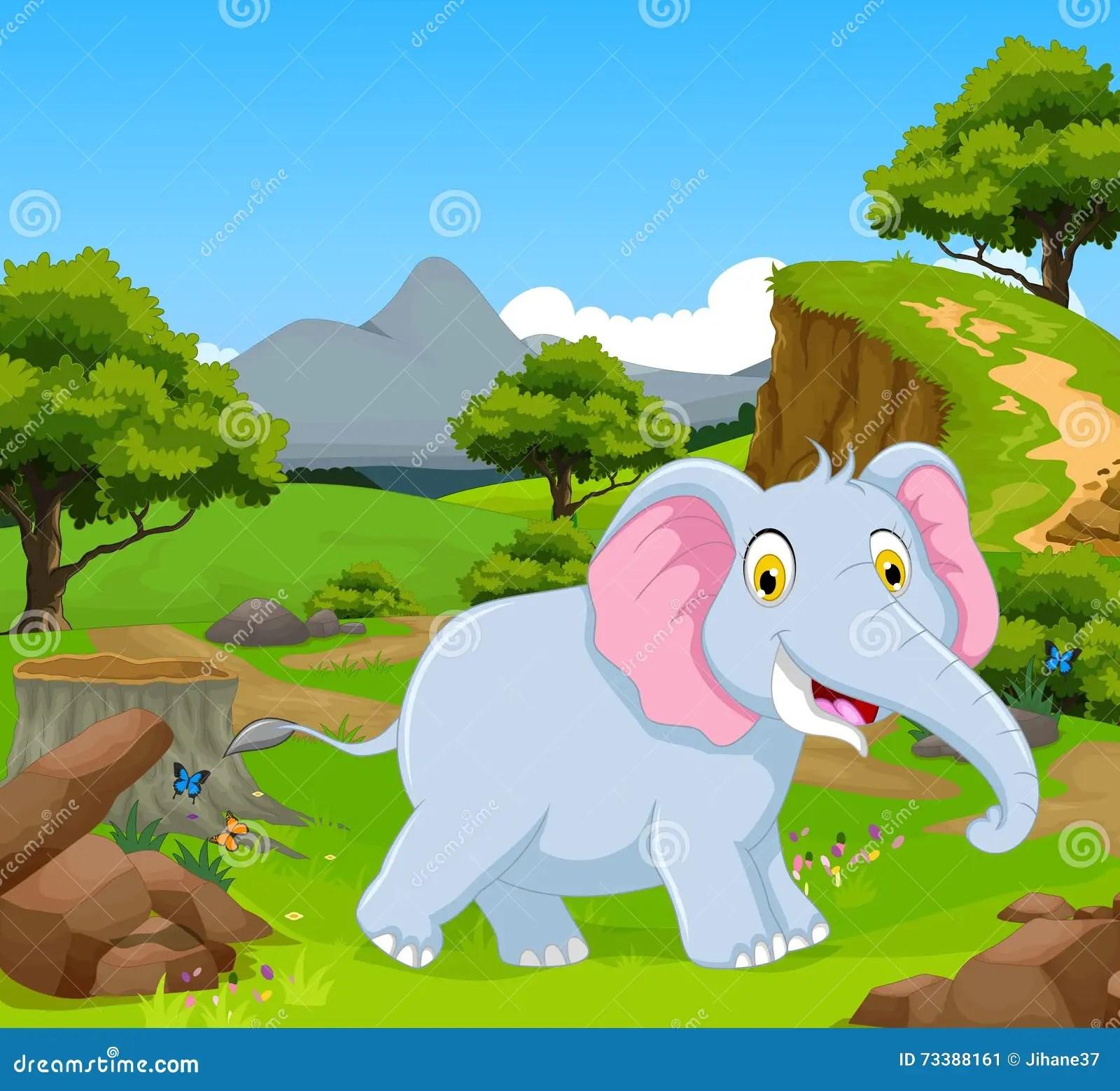 Smiling Elephant Africa Background Royalty Free Stock