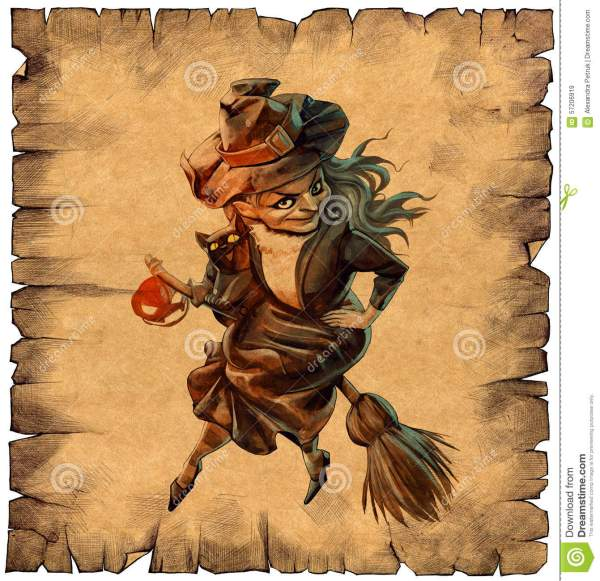 Funny Halloween Witch Stock Illustration