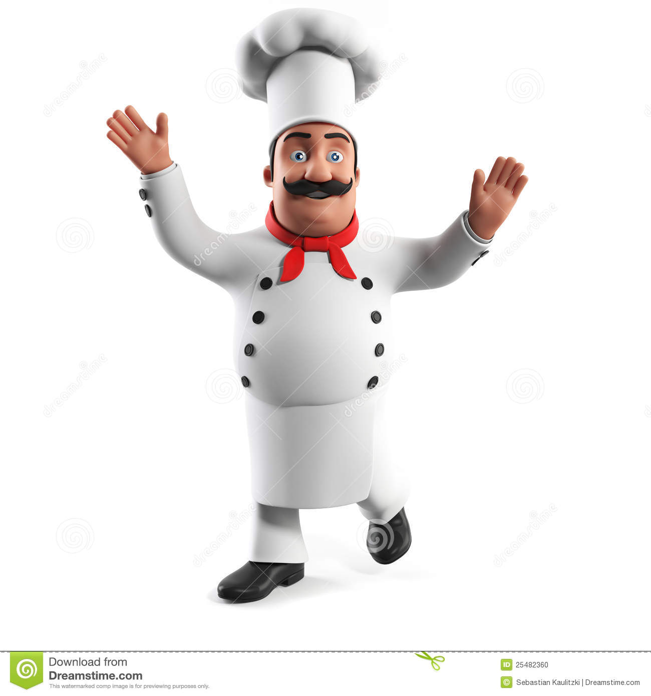 kitchen chief table light fixtures funny chef stock illustration of person 25482360 3d rendered a