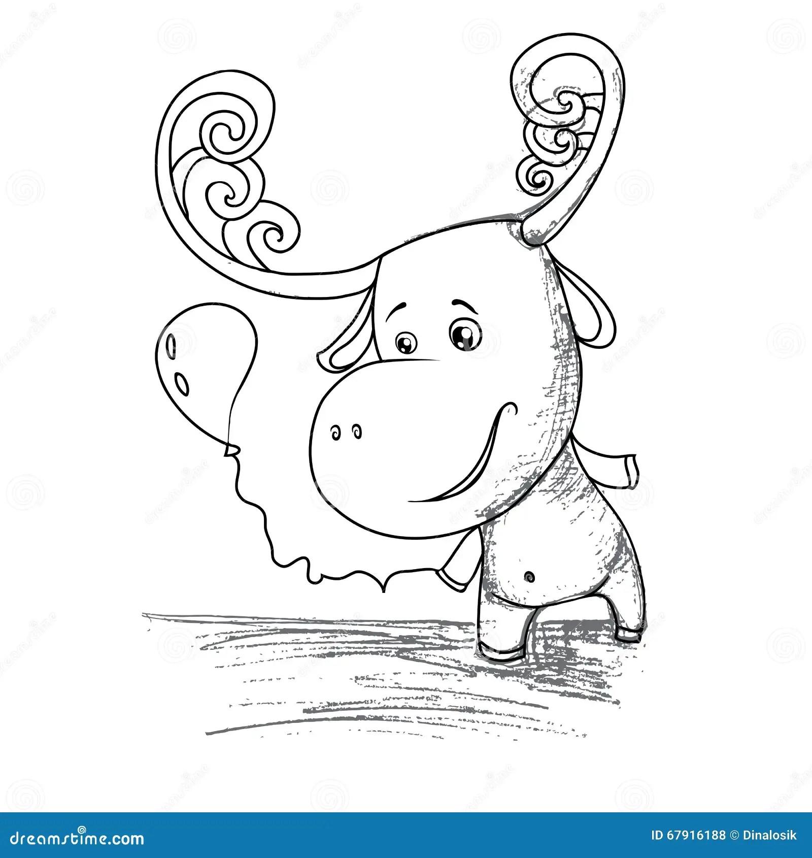 Funny Cartoon Moose