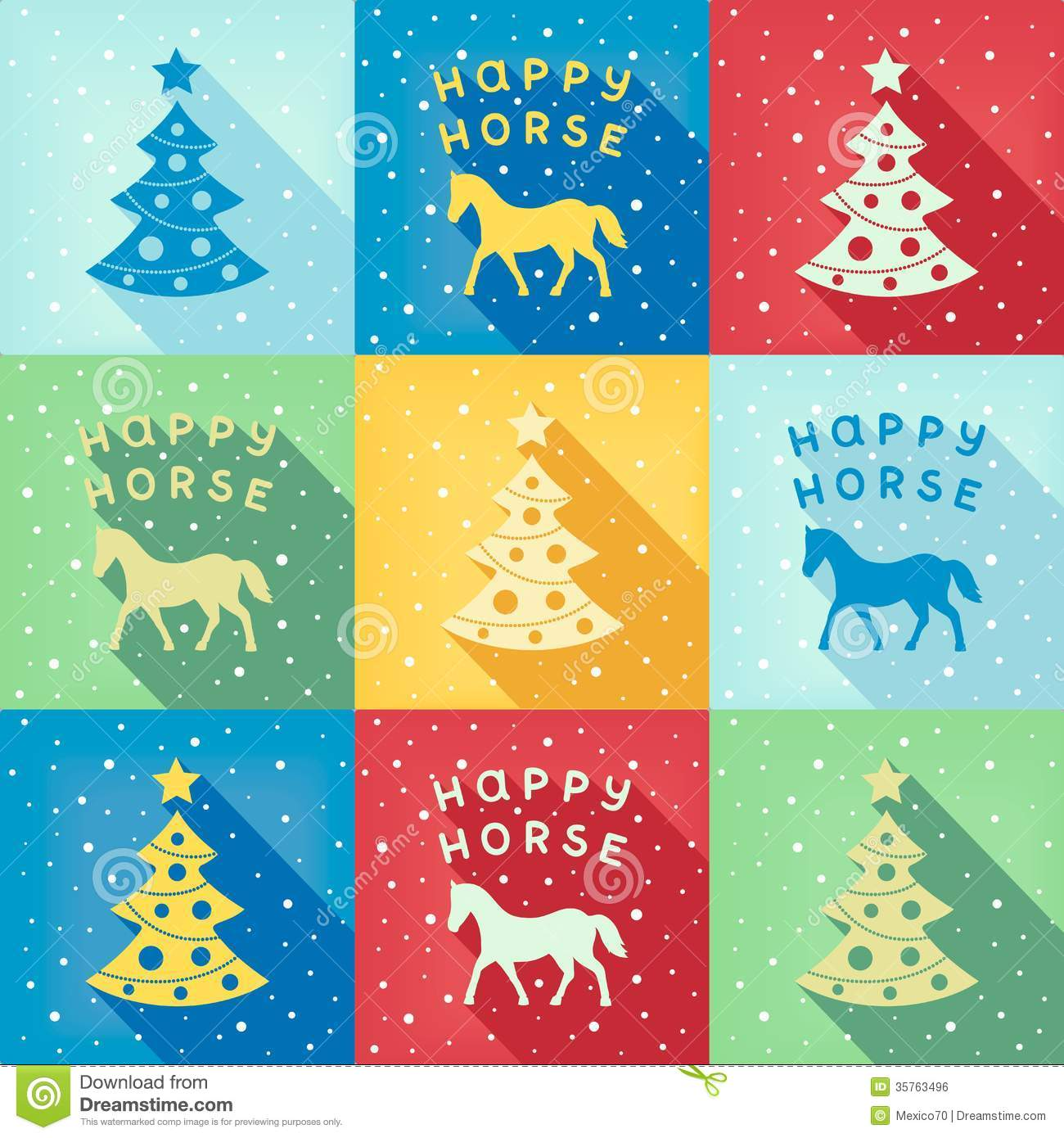 Funny New Year Pop Art Pattern Stock Vector Image 35763496