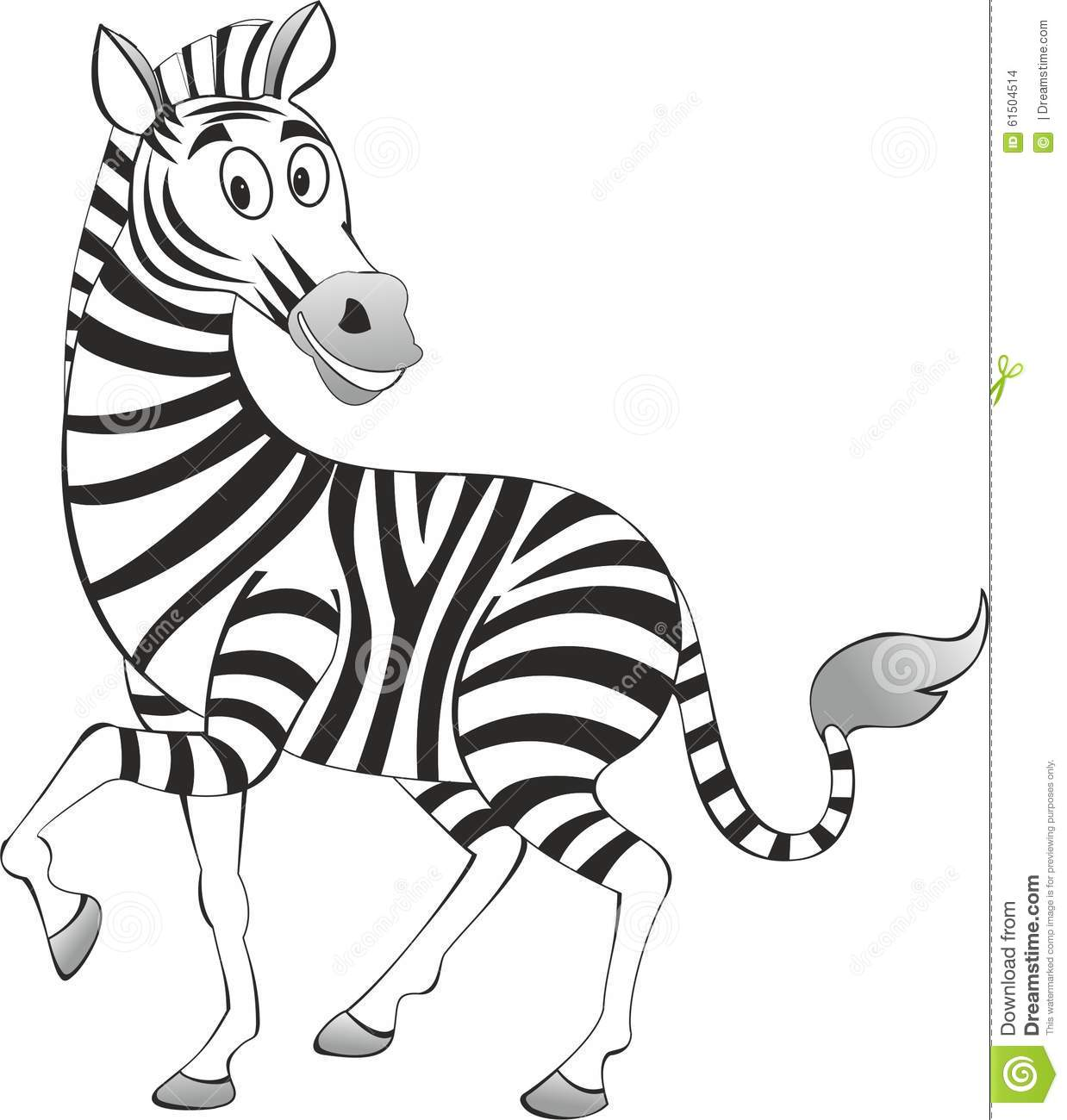 Funny Painted Zebra Vector Stock Vector Image Of Zebra
