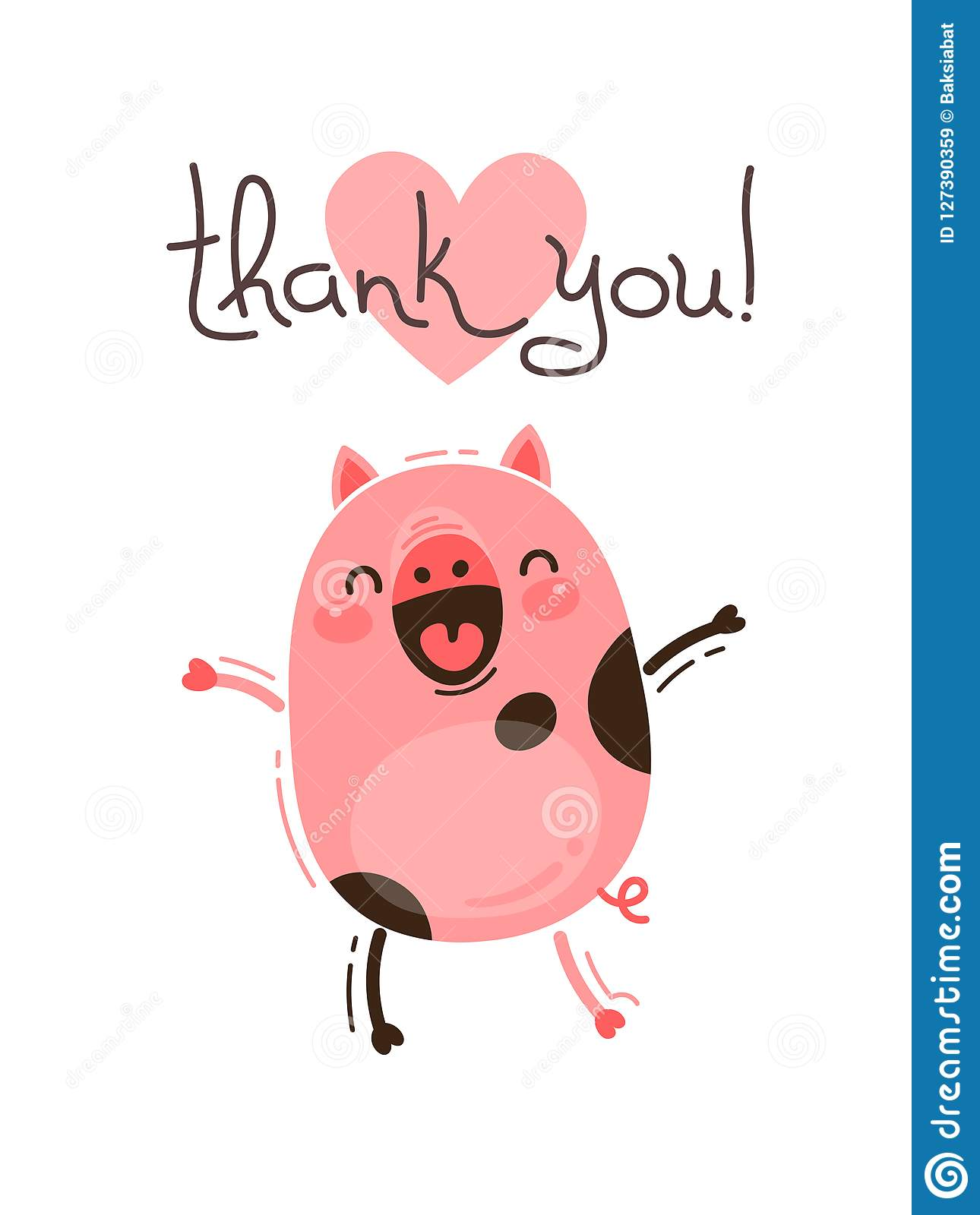 funny pig says thank