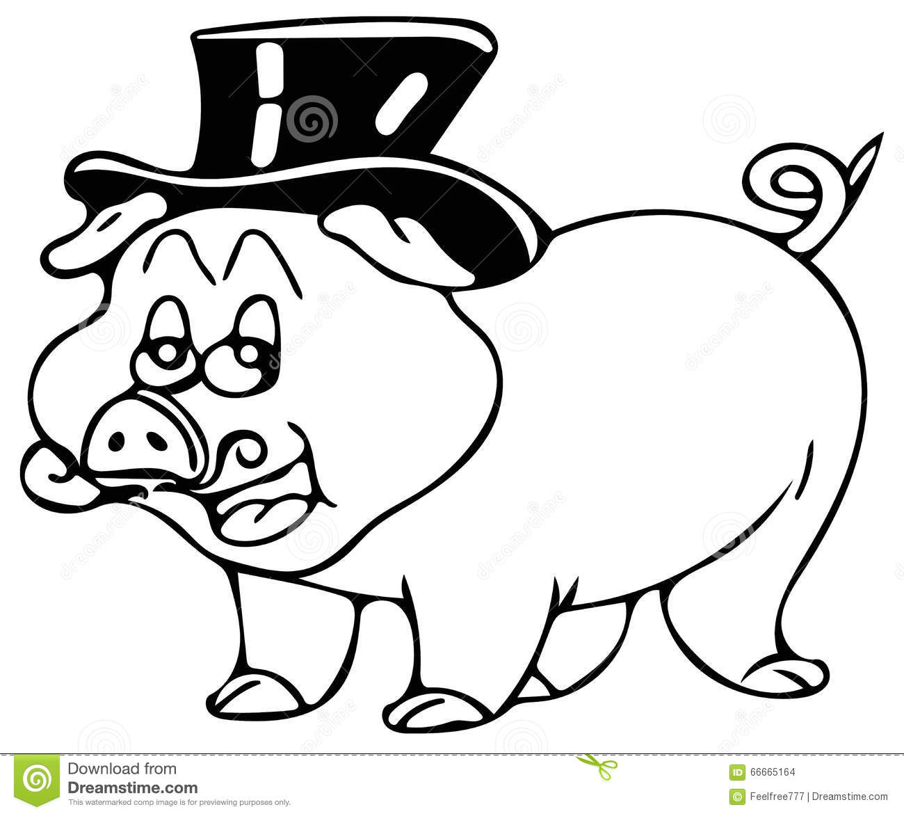 Smart Pig Coloring Pages