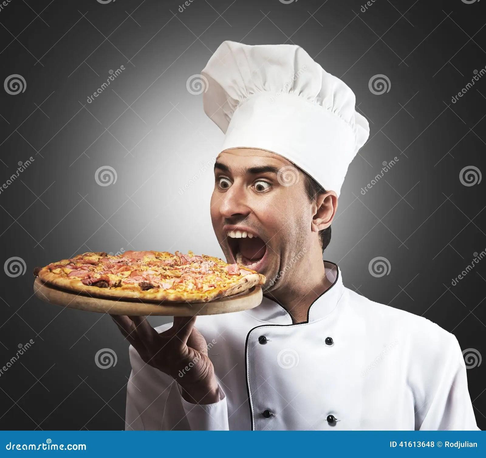 Funny Pizza Chef Stock Photo  Image 41613648