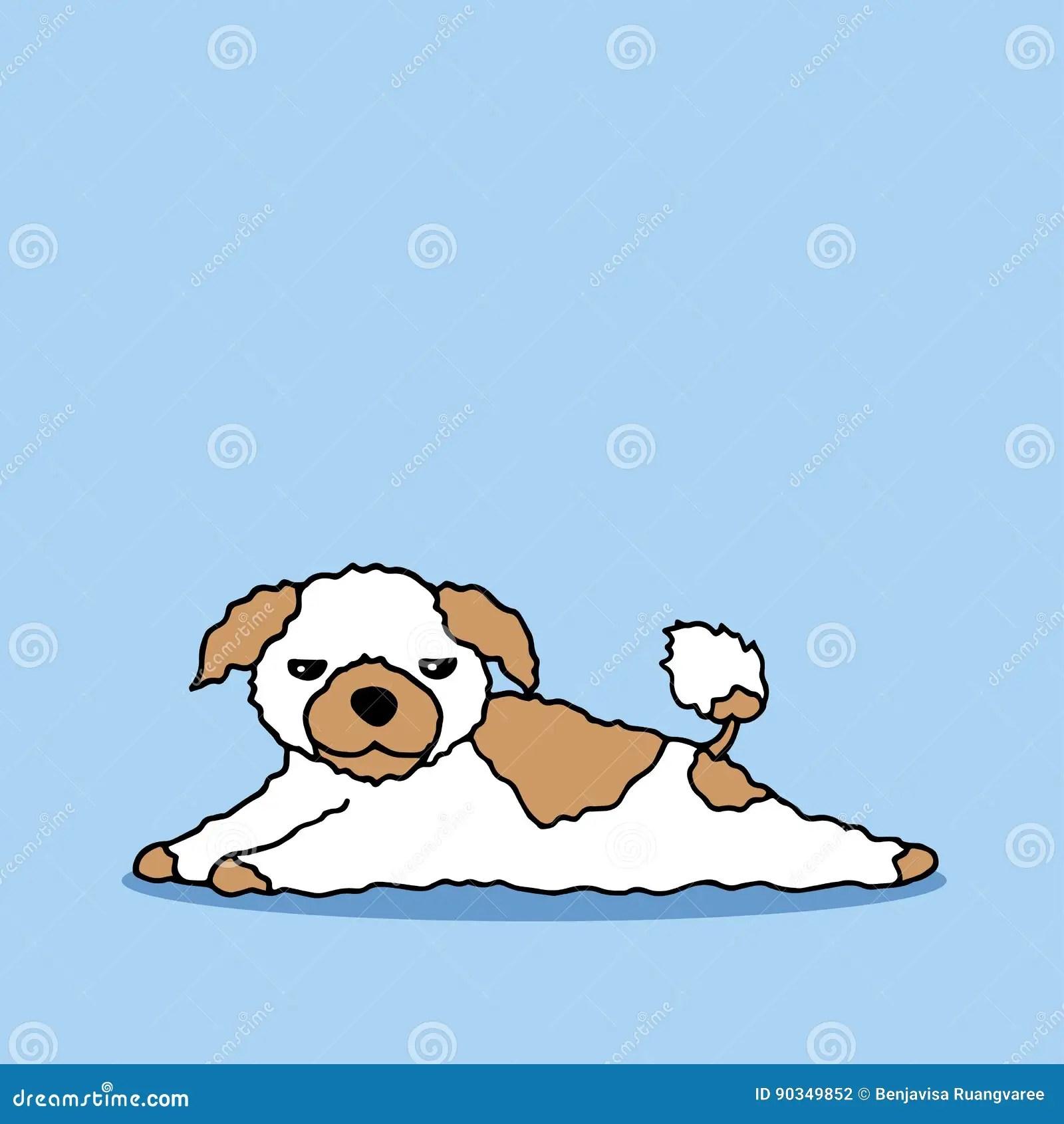 hight resolution of funny sleepy dog vector hand drawing illustration design funny sleepy dog vector hand drawn illustration