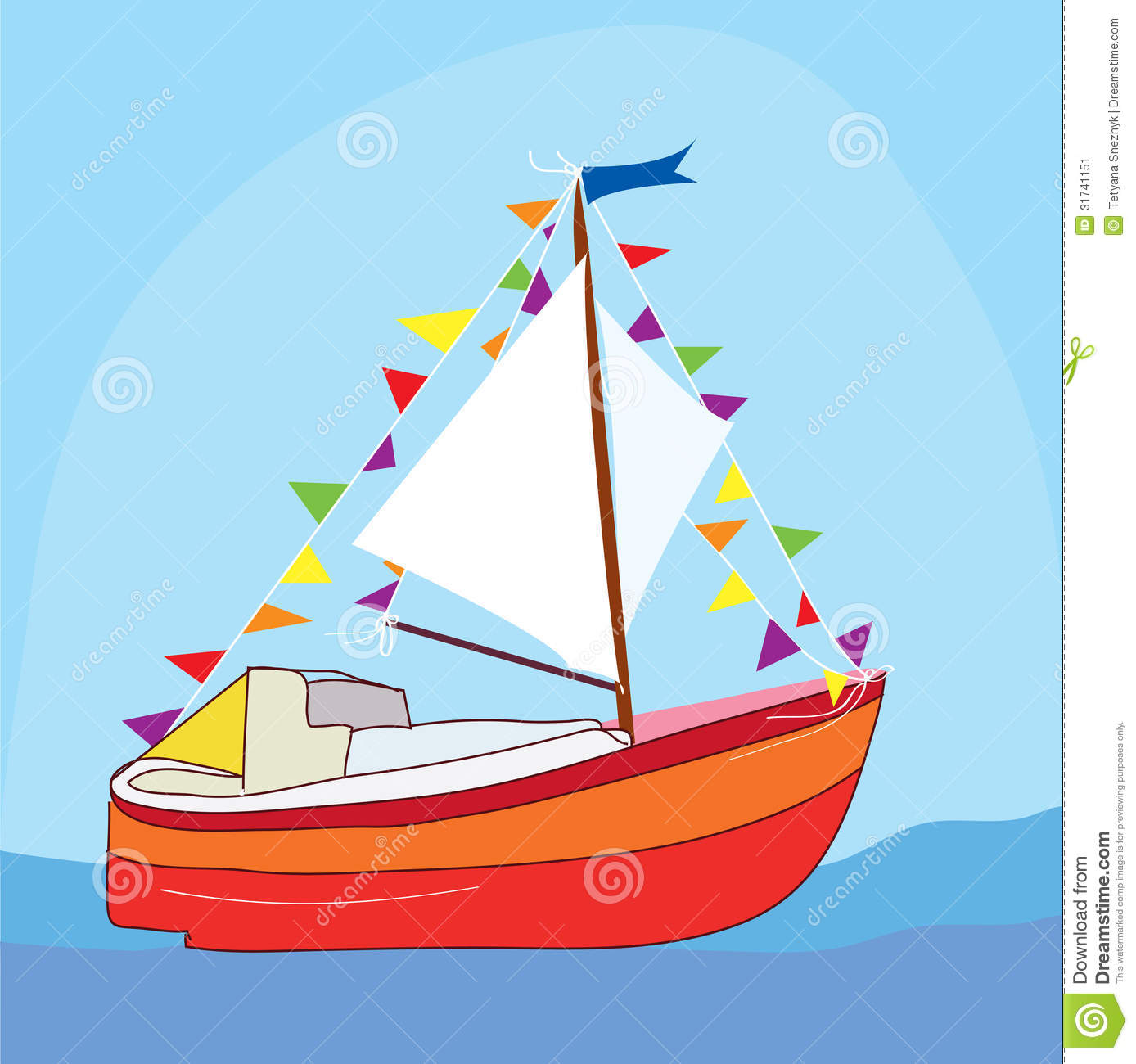Funny Yacht At The Sea Stock Image Image 31741151