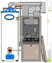 Furnace And Water Heater stock illustration. Image of ...