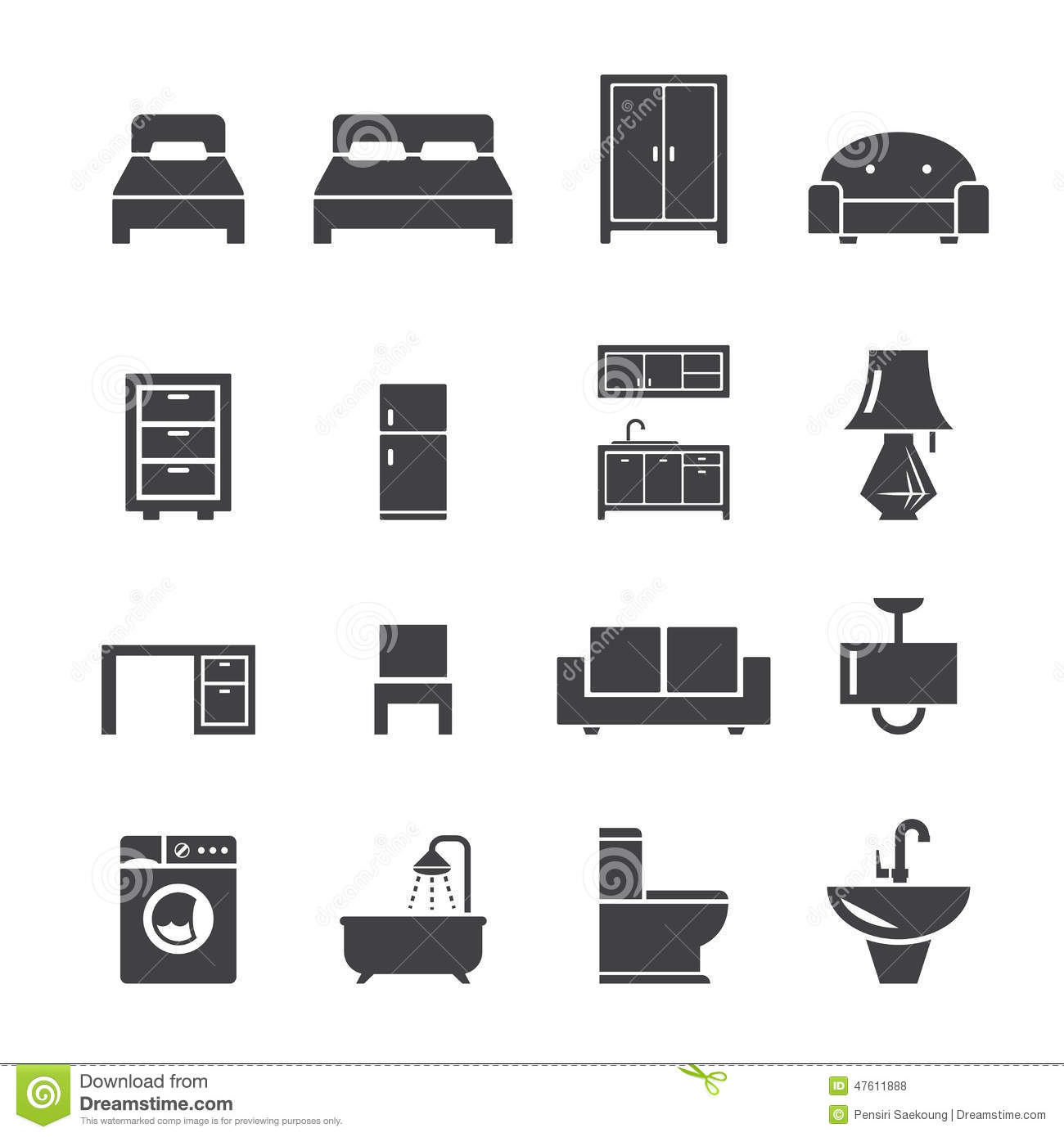 chair design icons antique morris chairs furniture icon stock vector image of lighting flush