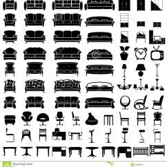 Chair Design Icons Barcelona Lounge Furniture Stock Vector Image 39906933