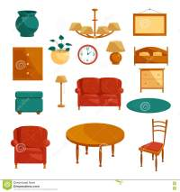 Cartoon Chair Furniture Icon Set Vector Illustration ...