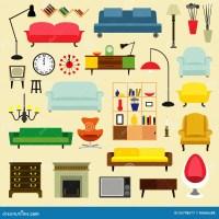 Furniture Ideas For Living Room Cartoon Vector ...