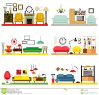 Furniture Ideas For Living Room Stock Vector - Image: 55798682