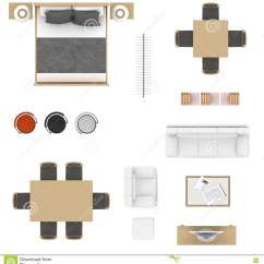 Chair Design Top View Mickey Mouse Club Ethan Allen Furniture Stock Illustration Of