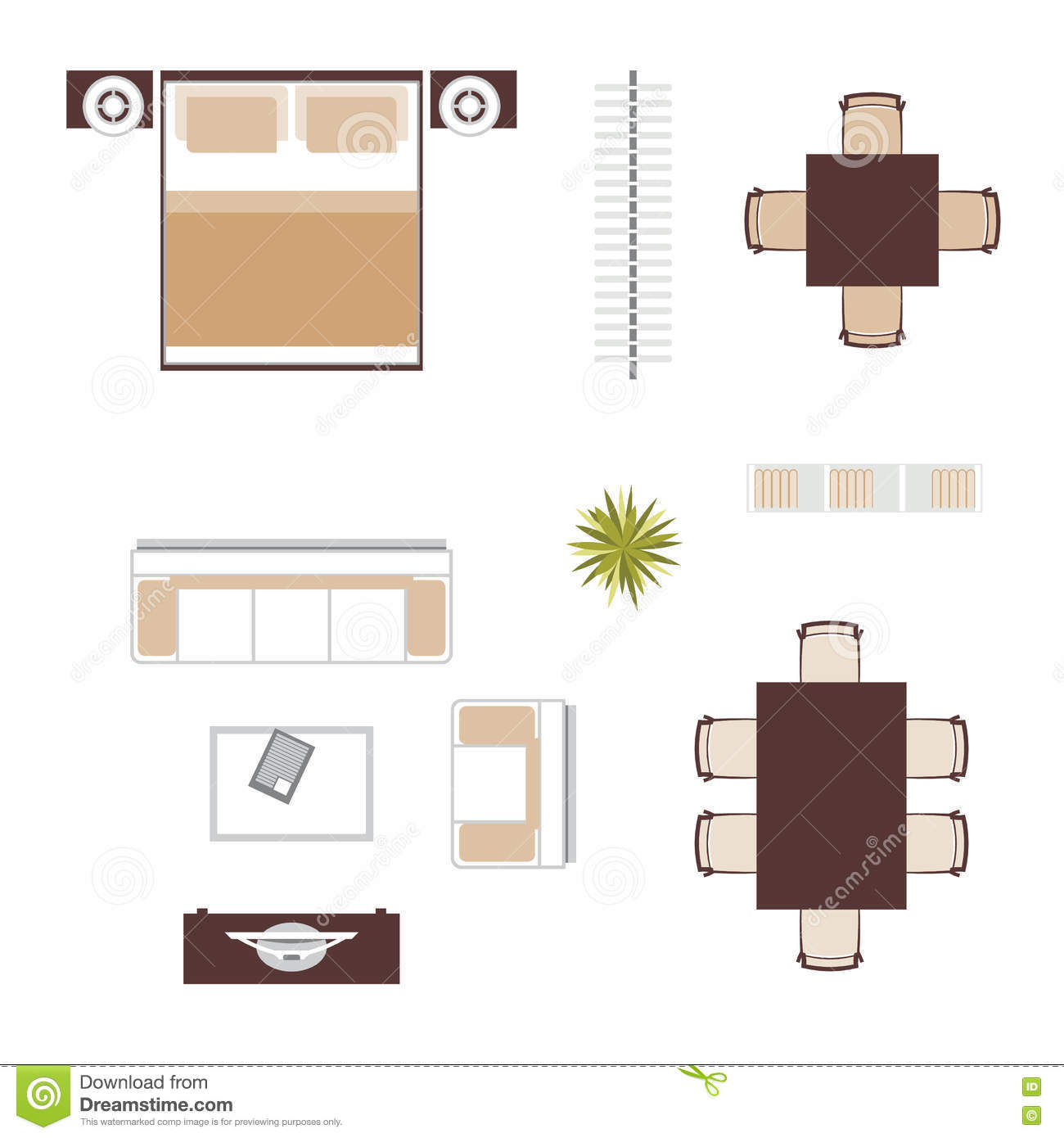 Sofa Set Top View Psd Furniture Top View Vector Cartoon Vector Cartoondealer