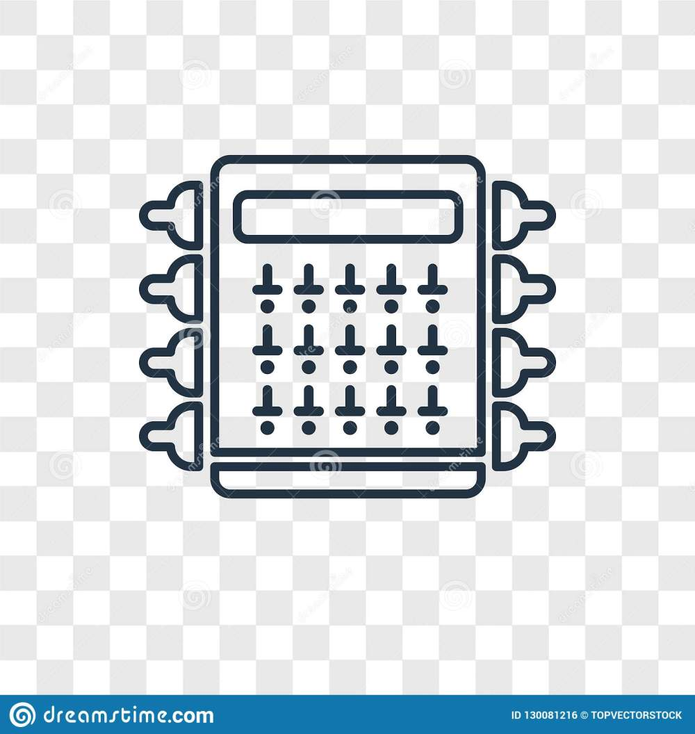 medium resolution of fuse box concept vector linear icon on transparent back