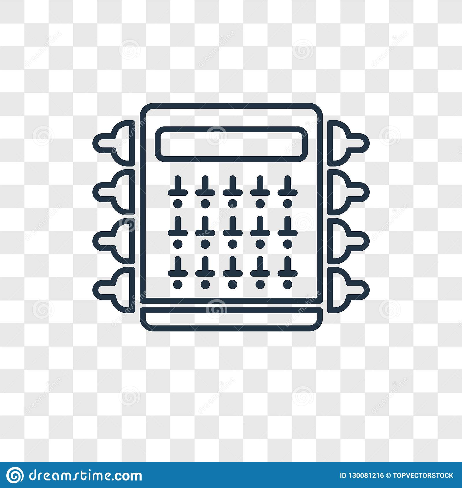 hight resolution of fuse box concept vector linear icon on transparent back