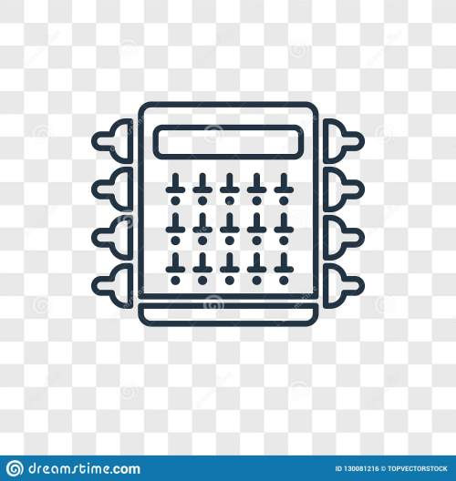 small resolution of fuse box concept vector linear icon on transparent back