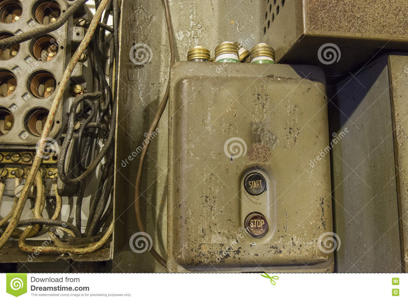 hight resolution of fuse box with fuses stock image image of archaic wires 71537325vintage fuse box with fuses