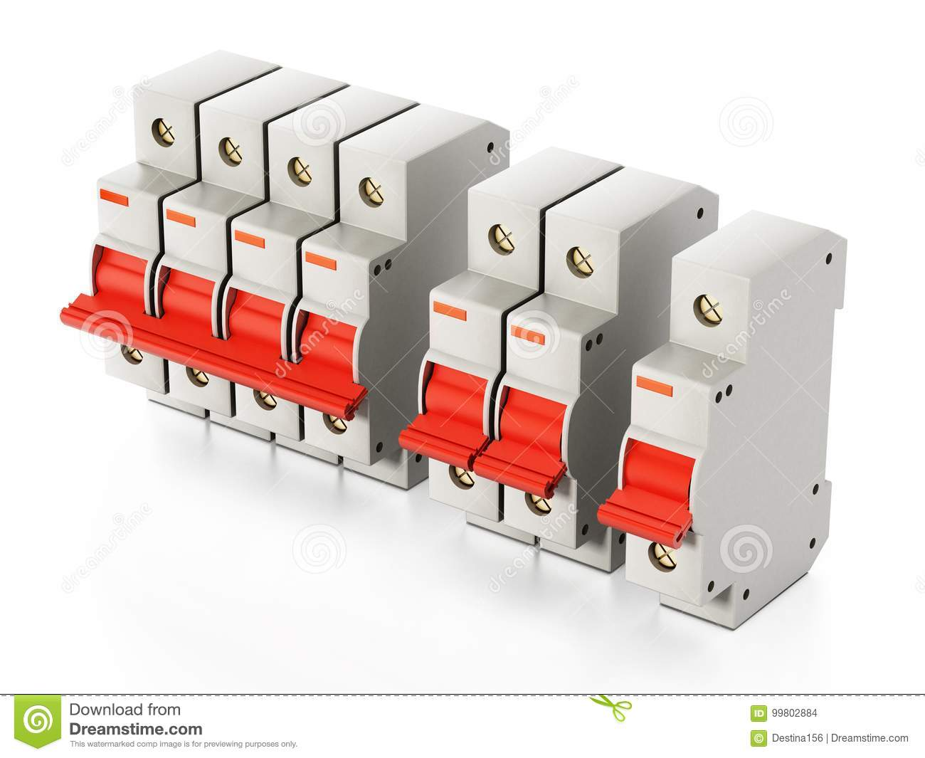 hight resolution of fuse box isolated on white background 3d illustration