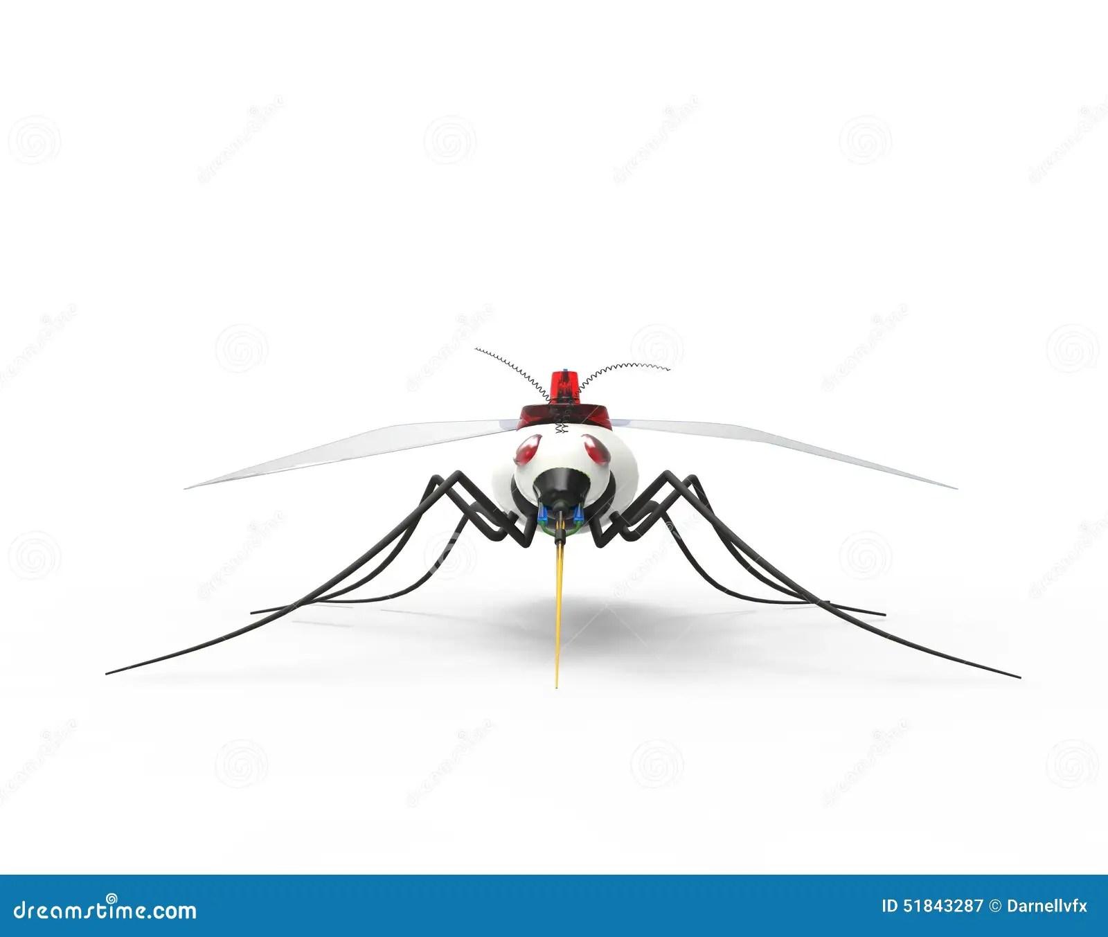 Futuristic Mosquito Nano Robots Stock Image
