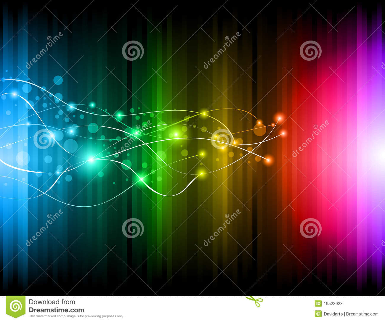 Futuristic Rainbow Lights Background For Poster Stock Vector Image 19523923