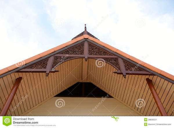 Gable Roof Of Thai House. Stock - 28846521