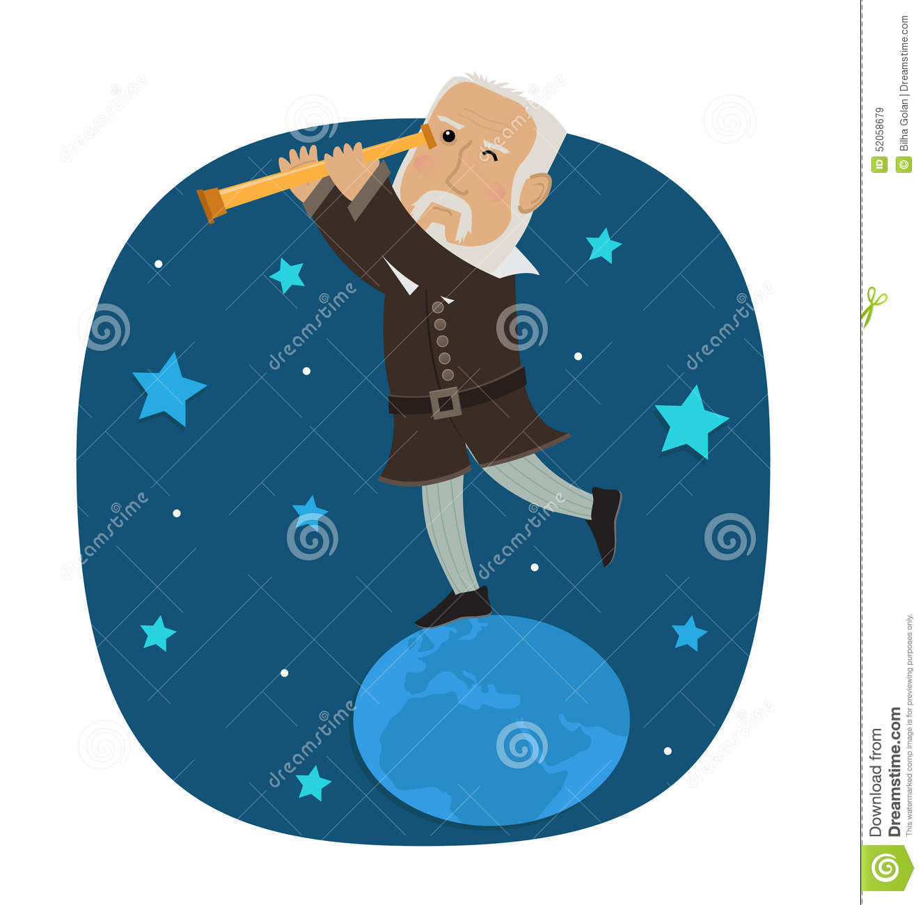 Galileo Galilei Stock Vector