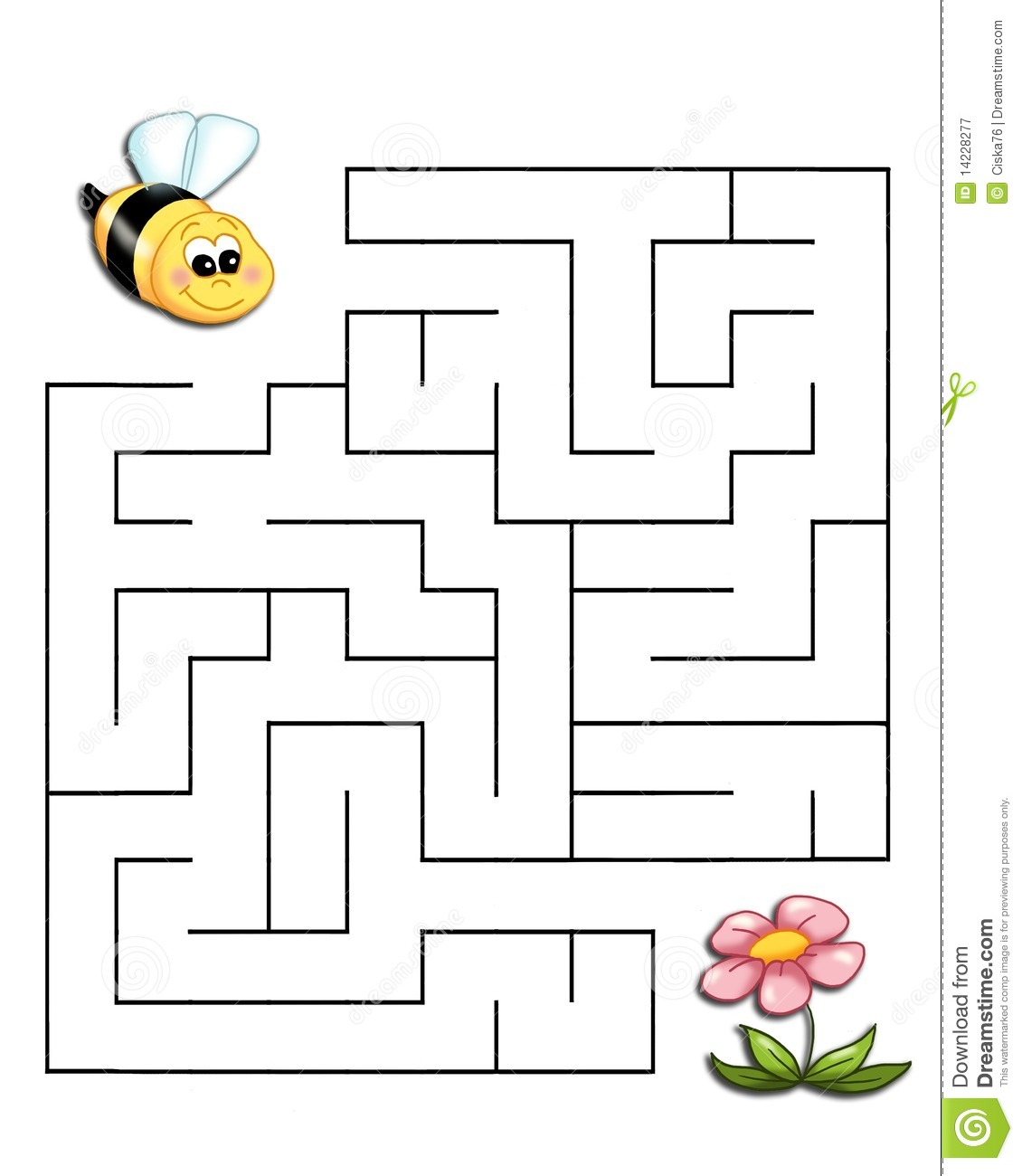 Game 19 The Bee Reaches The Flower Royalty Free Stock