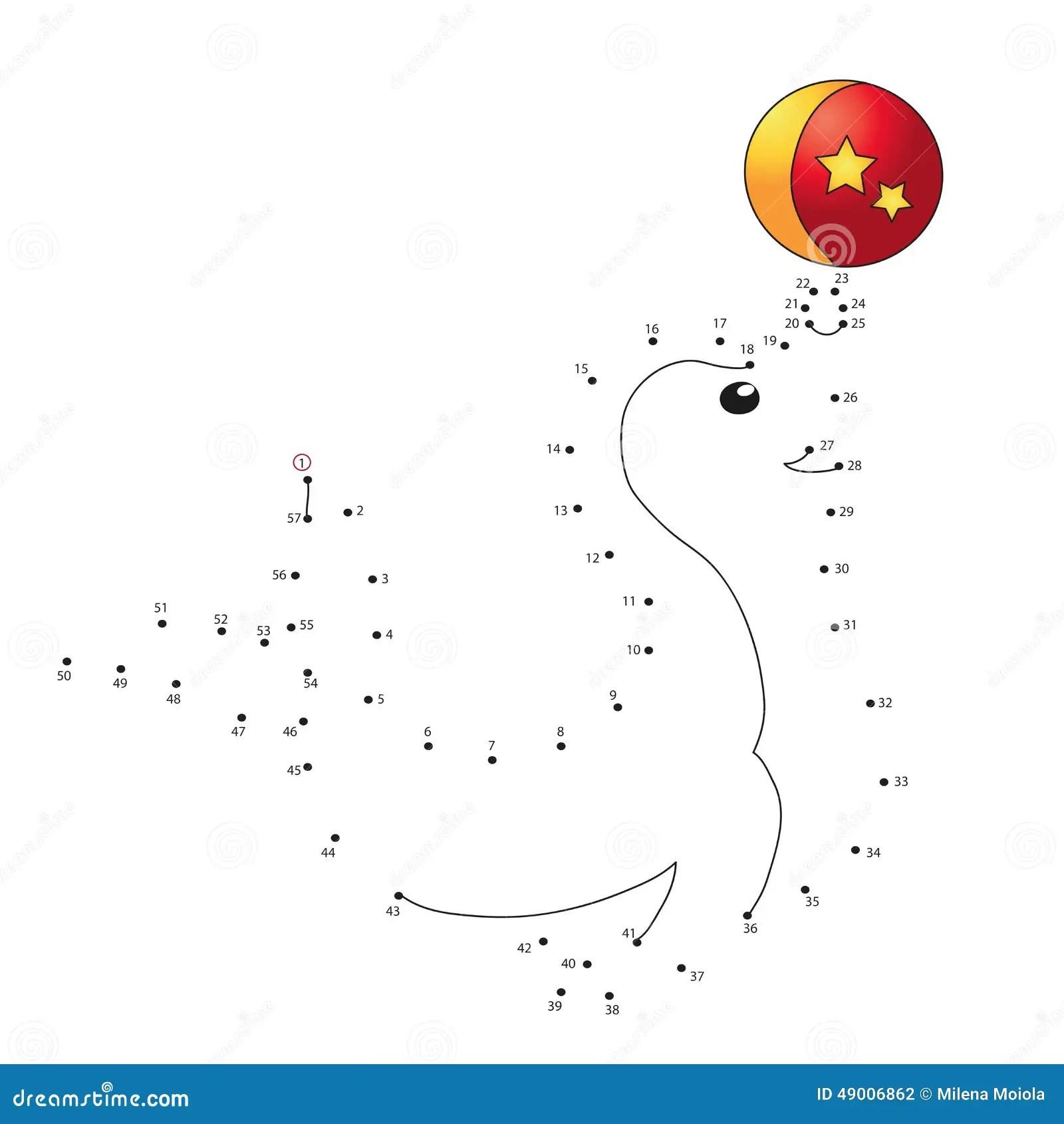 Game for children stock illustration. Image of seal